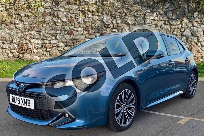 Image three of this 2019 Toyota Corolla Hatchback 1.8 VVT-i Hybrid Design 5dr CVT in Denim Blue at Listers Toyota Coventry