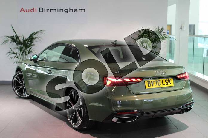 Image three of this 2020 Audi A5 Coupe Special Editions 40 TFSI Edition 1 2dr S Tronic in District Green Metallic at Birmingham Audi