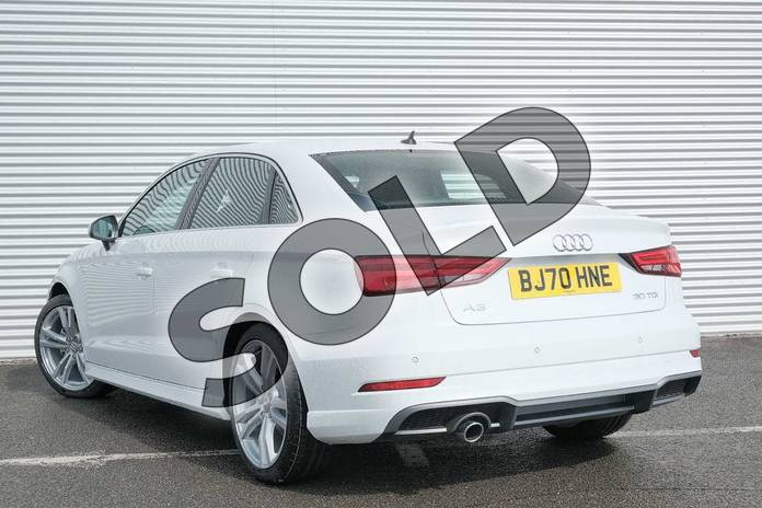 Image three of this 2020 Audi A3 Diesel Saloon 30 TDI 116 S Line 4dr in Glacier White Metallic at Coventry Audi