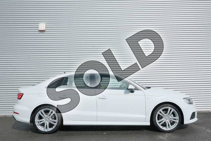Image four of this 2020 Audi A3 Diesel Saloon 30 TDI 116 S Line 4dr in Glacier White Metallic at Coventry Audi