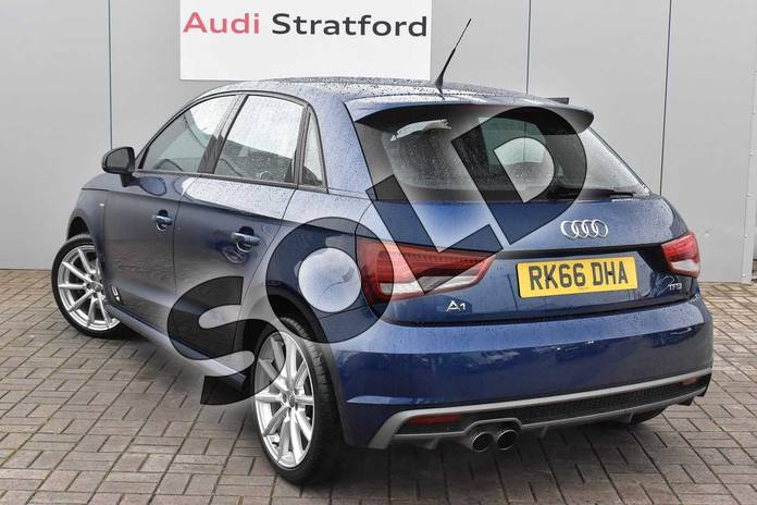 Image three of this 2016 Audi A1 Sportback 1.4 TFSI S Line 5dr in Scuba Blue Metallic at Stratford Audi