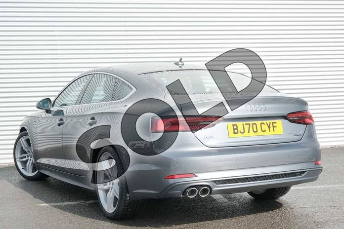 Image three of this 2020 Audi A5 Diesel Sportback 40 TDI Quattro S Line 5dr S Tronic in Monsoon Grey Metallic at Coventry Audi
