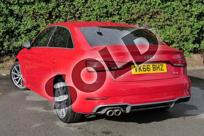 Image three of this 2016 Audi A3 Saloon 1.4 TFSI S Line 4dr S Tronic in Tango Red Metallic at Worcester Audi