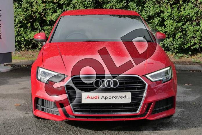 Image seven of this 2016 Audi A3 Saloon 1.4 TFSI S Line 4dr S Tronic in Tango Red Metallic at Worcester Audi