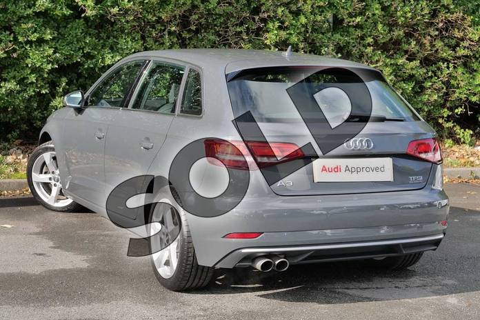Image three of this 2016 Audi A3 Sportback 2.0 TFSI Quattro Sport 5dr S Tronic in Nano Grey Metallic at Worcester Audi