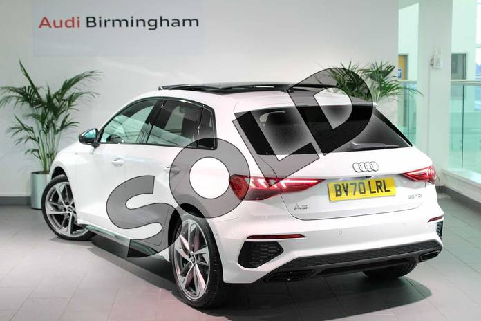 Image three of this 2020 Audi A3 Sportback 35 TDI Edition 1 5dr S Tronic in Glacier White Metallic at Birmingham Audi