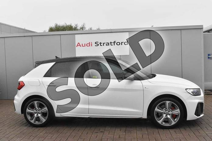 Image four of this 2020 Audi A1 Sportback 40 TFSI S Line Competition 5dr S Tronic in Glacier White Metallic at Stratford Audi