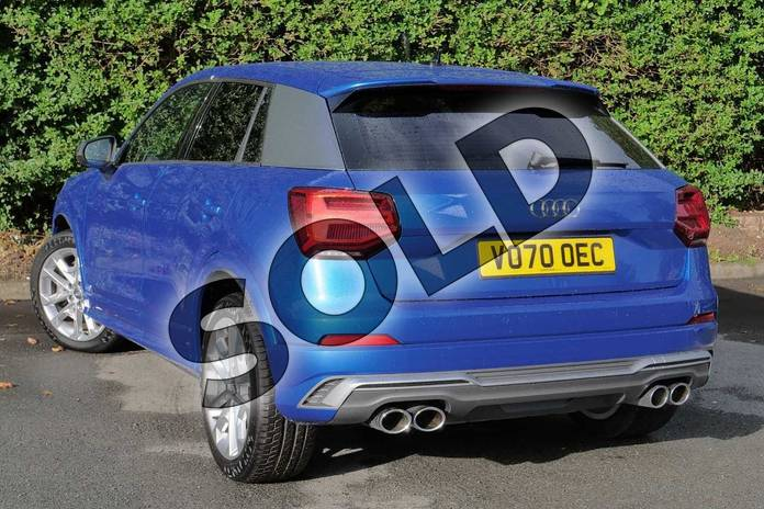 Image three of this 2020 Audi Q2 Estate SQ2 Quattro 5dr S Tronic in Ara Blue Crystal Effect at Worcester Audi