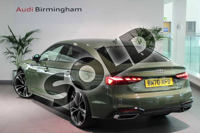 Image three of this 2020 Audi A5 Sportback Special Editions 40 TDI Quattro Edition 1 5dr S Tronic in District Green Metallic at Birmingham Audi