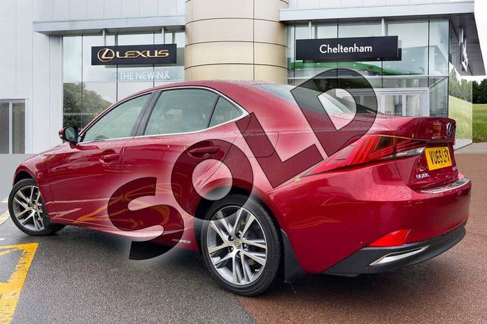 Image three of this 2019 Lexus IS Saloon 300h 4dr CVT Auto in Red at Lexus Cheltenham