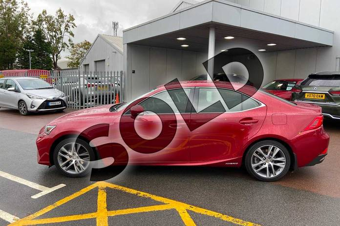Image four of this 2019 Lexus IS Saloon 300h 4dr CVT Auto in Red at Lexus Cheltenham