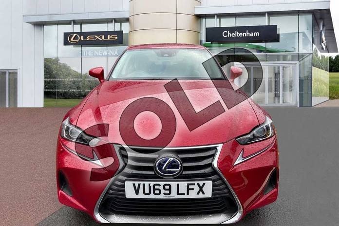 Image seven of this 2019 Lexus IS Saloon 300h 4dr CVT Auto in Red at Lexus Cheltenham
