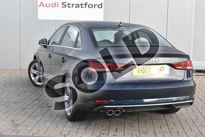 Image three of this 2017 Audi A3 Saloon 1.4 TFSI Sport 4dr in Cosmos blue, metallic at Stratford Audi