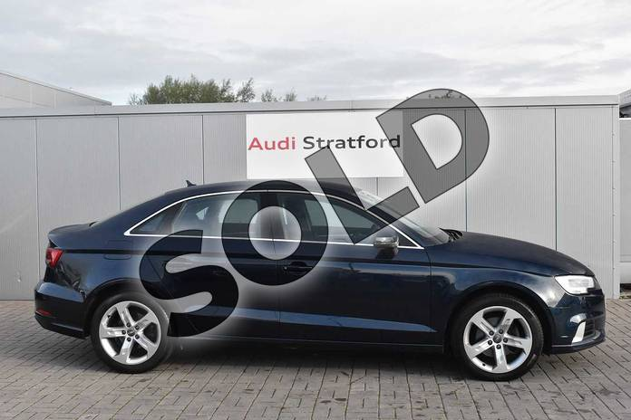 Image four of this 2017 Audi A3 Saloon 1.4 TFSI Sport 4dr in Cosmos blue, metallic at Stratford Audi