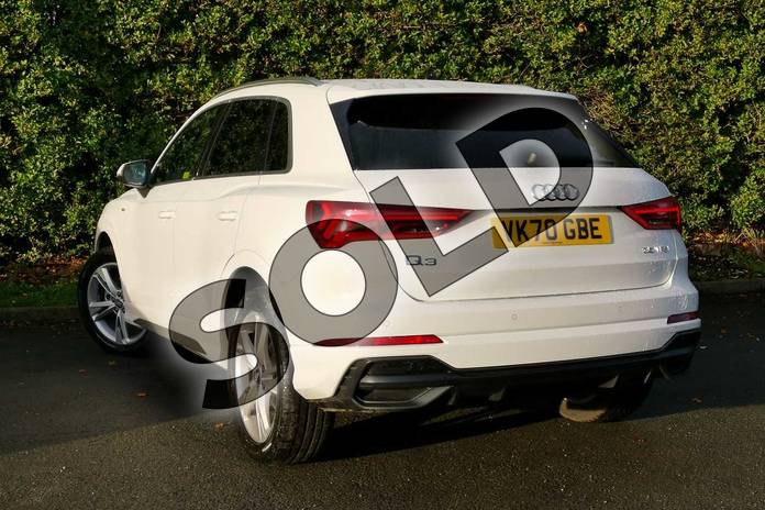 Image three of this 2020 Audi Q3 Sportback 35 TFSI S Line 5dr in Ibis White at Worcester Audi
