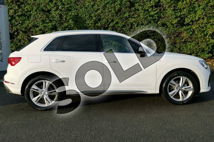 Image four of this 2020 Audi Q3 Sportback 35 TFSI S Line 5dr in Ibis White at Worcester Audi
