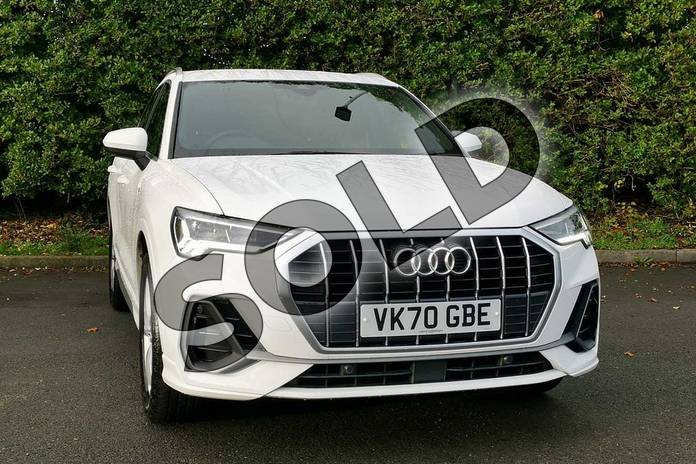 Image seven of this 2020 Audi Q3 Sportback 35 TFSI S Line 5dr in Ibis White at Worcester Audi
