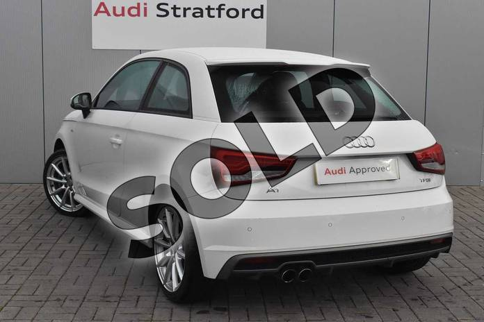 Image three of this 2017 Audi A1 Hatchback 1.4 TFSI S Line 3dr in Shell White at Stratford Audi
