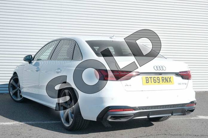 Image three of this 2019 Audi A4 Saloon 35 TFSI Black Edition 4dr S Tronic in Ibis White at Coventry Audi