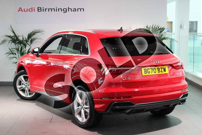 Image three of this 2020 Audi Q3 Diesel Estate 35 TDI S Line 5dr S Tronic in Tango Red Metallic at Birmingham Audi