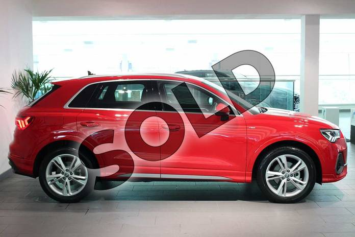 Image four of this 2020 Audi Q3 Diesel Estate 35 TDI S Line 5dr S Tronic in Tango Red Metallic at Birmingham Audi
