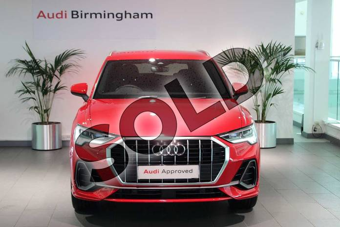Image seven of this 2020 Audi Q3 Diesel Estate 35 TDI S Line 5dr S Tronic in Tango Red Metallic at Birmingham Audi