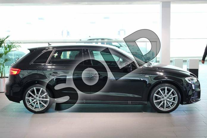 Image four of this 2020 Audi A3 Diesel Sportback 40 TDI 184 Quattro Black Edition 5dr S Tronic in Myth Black Metallic at Birmingham Audi
