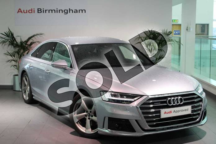 Picture of Audi A8 50 TDI Quattro S Line 4dr Tiptronic in Floret Silver Metallic