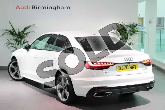 Image three of this 2020 Audi A4 Diesel Saloon 35 TDI Black Edition 4dr S Tronic in Ibis White at Birmingham Audi