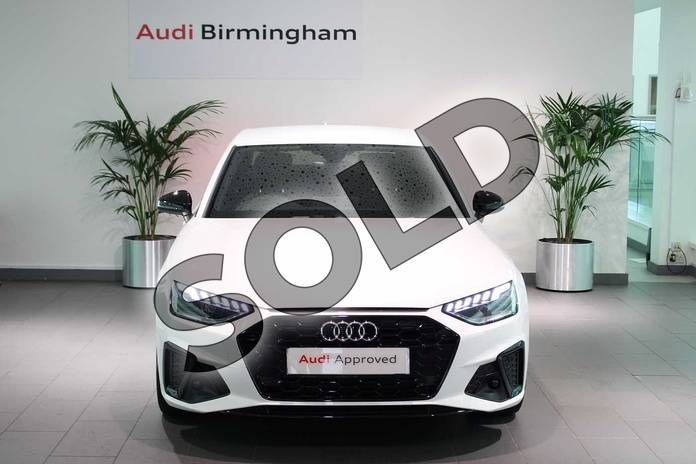 Image seven of this 2020 Audi A4 Diesel Saloon 35 TDI Black Edition 4dr S Tronic in Ibis White at Birmingham Audi