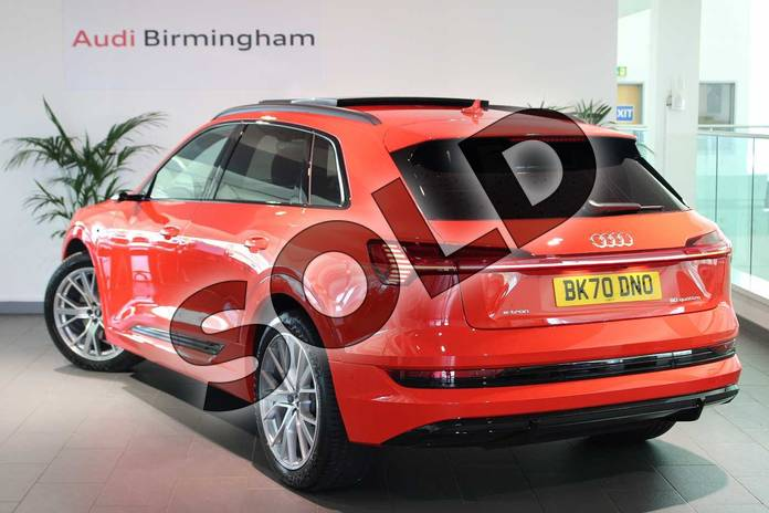 Image three of this 2020 Audi e-tron Estate Special Editions 230kW 50 Quattro 71kWh Launch Edition 5dr Auto in Catalunya Red Metallic at Birmingham Audi