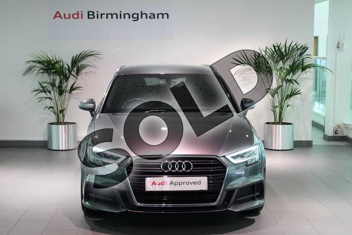 Image seven of this 2018 Audi A3 Sportback 1.5 TFSI S Line 5dr in Daytona Grey Pearlescent at Birmingham Audi