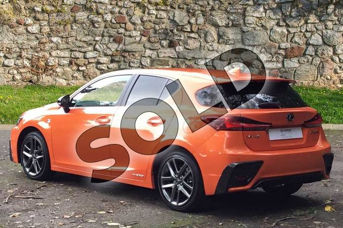 Image two of this 2020 Lexus CT Hatchback 200h 1.8 F-Sport 5dr CVT in Solar Flare Orange at Lexus Coventry