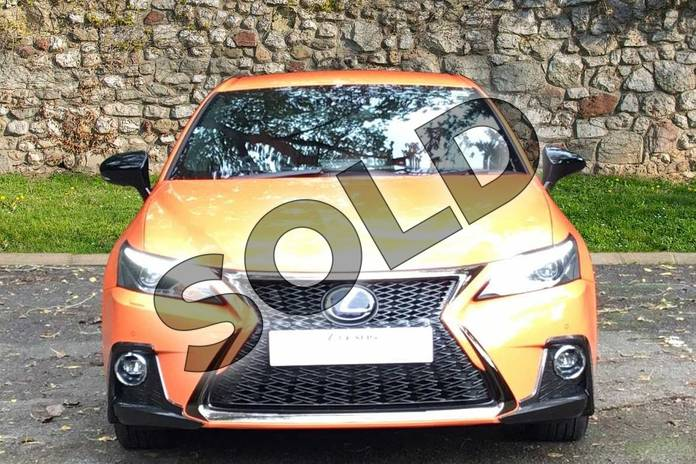 Image four of this 2020 Lexus CT Hatchback 200h 1.8 F-Sport 5dr CVT in Solar Flare Orange at Lexus Coventry