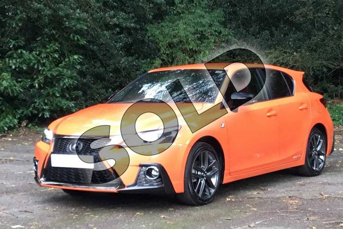 Image seventeen of this 2020 Lexus CT Hatchback 200h 1.8 F-Sport 5dr CVT in Solar Flare Orange at Lexus Coventry