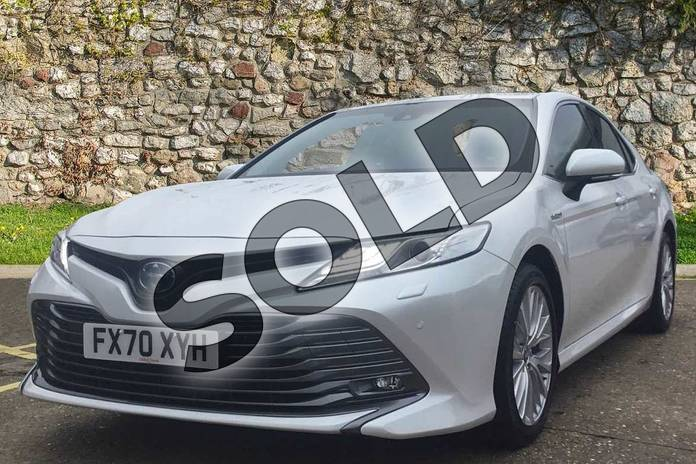 Image three of this 2020 Toyota Camry Saloon 2.5 VVT-i Hybrid Excel 4dr CVT in White at Listers Toyota Boston