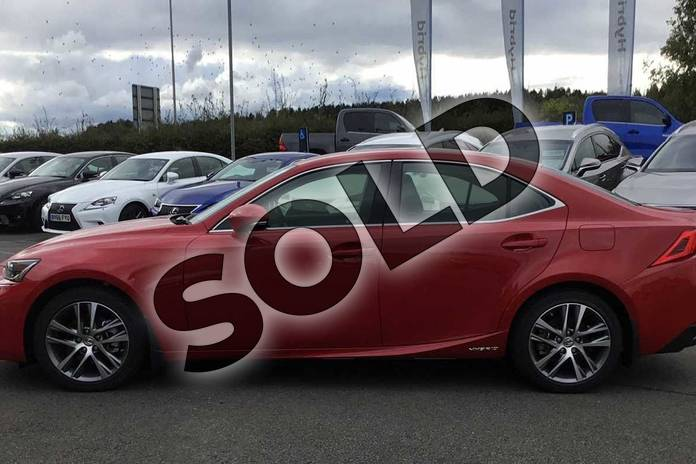 Image three of this 2020 Lexus IS Saloon 300h 4dr CVT Auto in Fuji Red at Lexus Lincoln