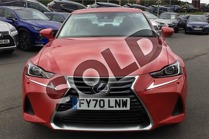 Image four of this 2020 Lexus IS Saloon 300h 4dr CVT Auto in Fuji Red at Lexus Lincoln