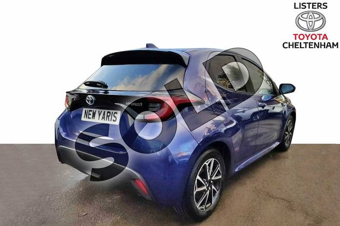 Image two of this 2020 Toyota Yaris Hatchback 1.5 Hybrid Design 5dr CVT in Galactic Blue at Listers Toyota Cheltenham