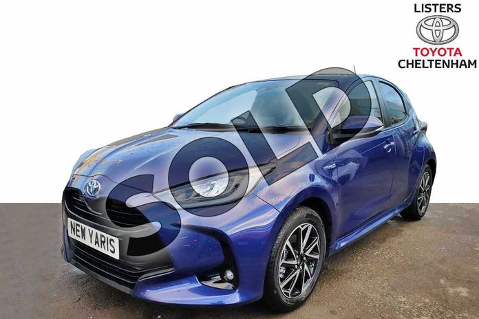 Image three of this 2020 Toyota Yaris Hatchback 1.5 Hybrid Design 5dr CVT in Galactic Blue at Listers Toyota Cheltenham
