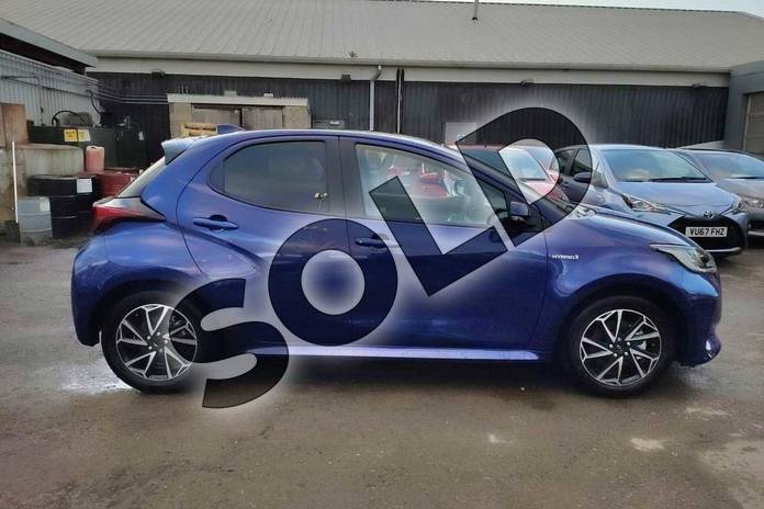 Image sixteen of this 2020 Toyota Yaris Hatchback 1.5 Hybrid Design 5dr CVT in Galactic Blue at Listers Toyota Cheltenham