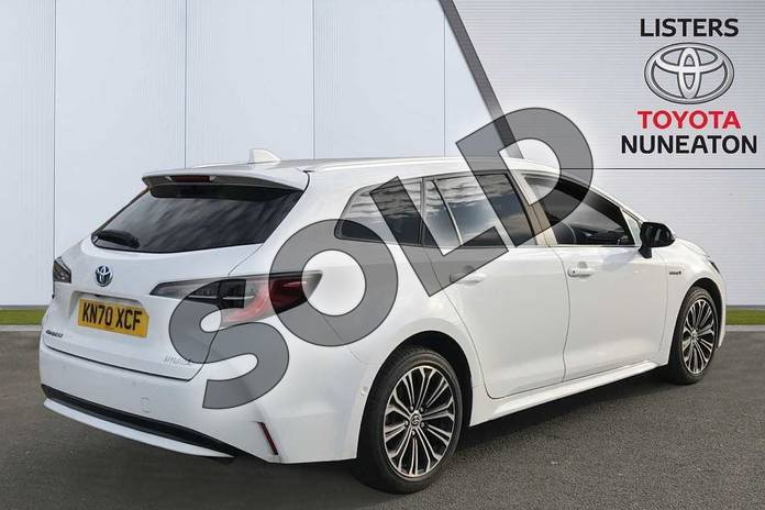 Image two of this 2020 Toyota Corolla Touring Sport 1.8 VVT-i Hybrid Design 5dr CVT in White at Listers Toyota Nuneaton