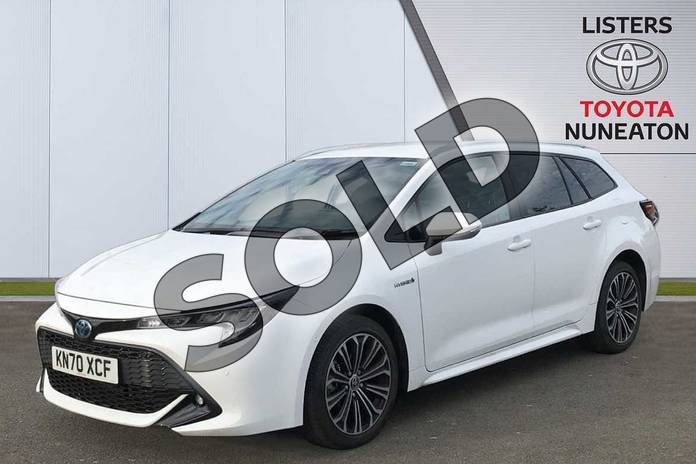 Image three of this 2020 Toyota Corolla Touring Sport 1.8 VVT-i Hybrid Design 5dr CVT in White at Listers Toyota Nuneaton