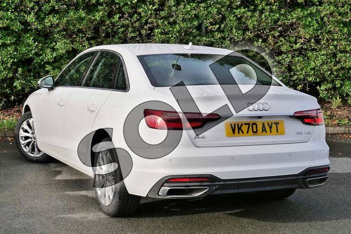 Image three of this 2020 Audi A4 Diesel Saloon 35 TDI Technik 4dr S Tronic in Ibis White at Worcester Audi