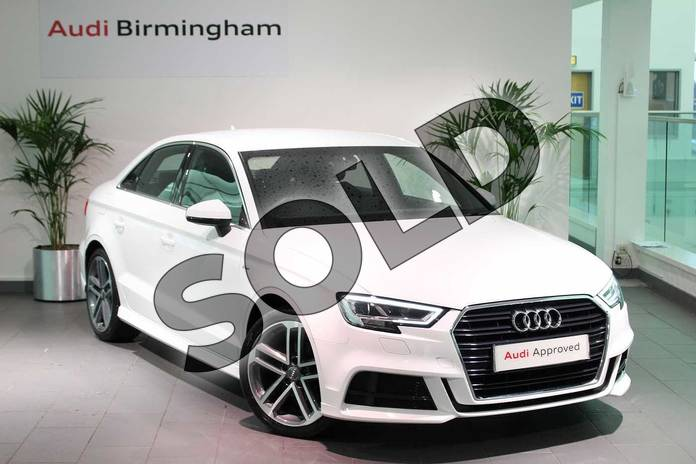 Picture of Audi A3 1.4 TFSI S Line 4dr S Tronic in Ibis White