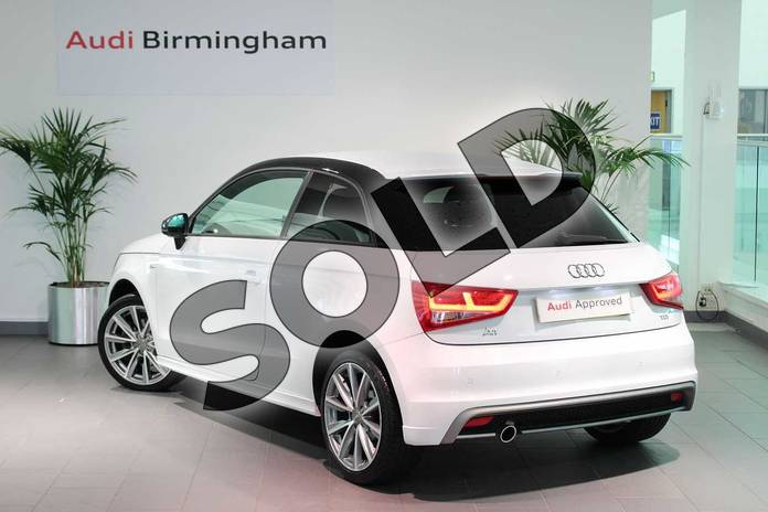 Image three of this 2015 Audi A1 Hatchback Special Editions 1.6 TDI S Line Style Edition 3dr in Glacier White, metallic at Birmingham Audi