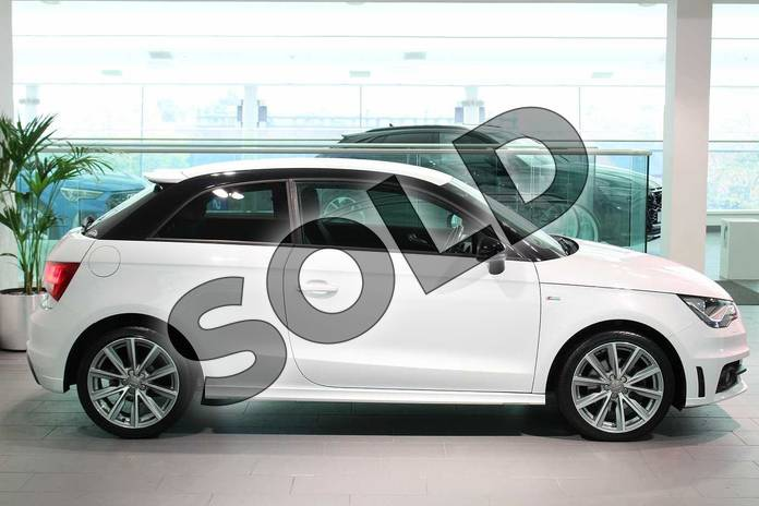 Image four of this 2015 Audi A1 Hatchback Special Editions 1.6 TDI S Line Style Edition 3dr in Glacier White, metallic at Birmingham Audi
