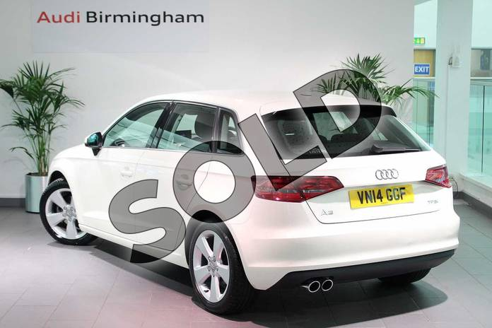Image three of this 2014 Audi A3 Sportback 1.4 TFSI Sport 5dr in Amalfi White at Birmingham Audi