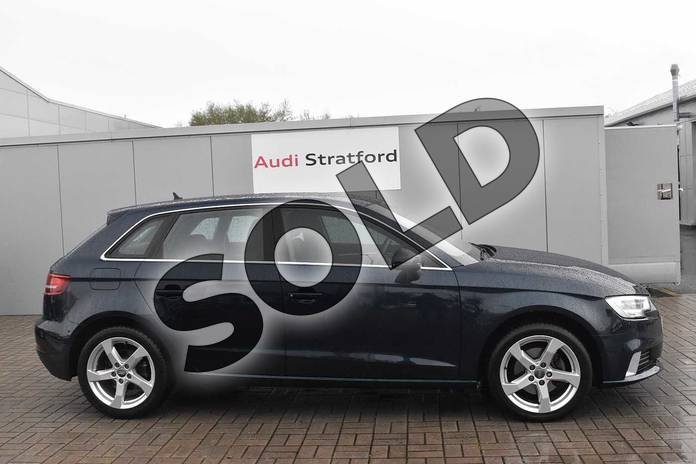 Image four of this 2016 Audi A3 Diesel Sportback 2.0 TDI Sport 5dr S Tronic in Cosmos blue, metallic at Stratford Audi