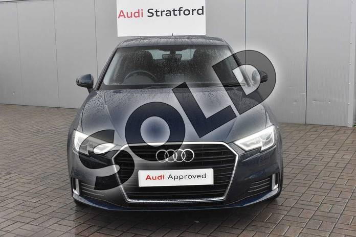 Image seven of this 2016 Audi A3 Diesel Sportback 2.0 TDI Sport 5dr S Tronic in Cosmos blue, metallic at Stratford Audi